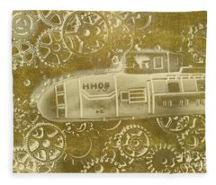Mechanical Sub Specs Fleece Blanket