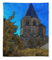 Medieval Bell Tower 3 Fleece Blanket