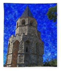 Medieval Bell Tower 4 Fleece Blanket