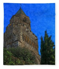 Medieval Bell Tower 5 Fleece Blanket