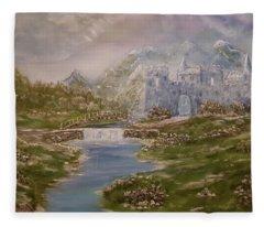 Medieval Wispers Fleece Blanket