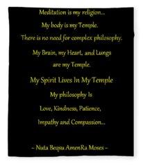 Meditation Is My Religion Fleece Blanket
