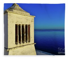 Mediterranean Chimney In Algarve Fleece Blanket