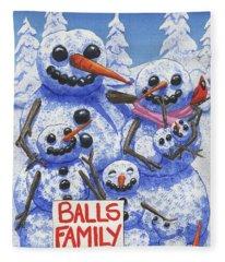 Meet The Balls Fleece Blanket