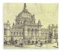 Memorial Hall, Centennial Fleece Blanket