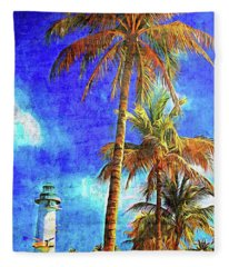 Memories From Harvest Caye Fleece Blanket