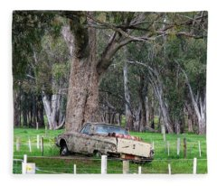 Memories Of The Farm Fleece Blanket