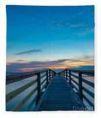 Memories On The Boardwalk Fleece Blanket