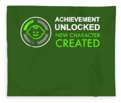 Mens 1st Fathers Day Gifts, Achievement Unlocked Fatherhood Shirt Fleece Blanket