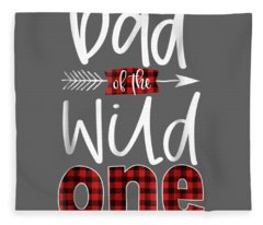 Mens Dad Of The Wild One Shirt Plaid Lumberjack 1st Birthday Tee Fleece Blanket
