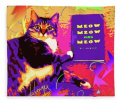 Meow, Meow And Meow Fleece Blanket