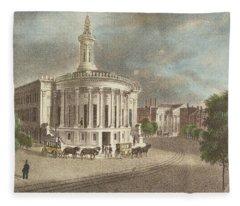Merchants Exchange, 1838 Fleece Blanket