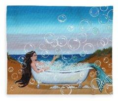 mermaid Bubble Bath Fleece Blanket
