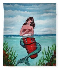 Mermaid Drumer Fleece Blanket