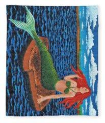 Mermaid On Toast Fleece Blanket