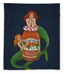Mermaids And Marmalade Fleece Blanket