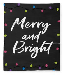 Merry And Bright 2- Art By Linda Woods Fleece Blanket