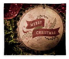 Fleece Blanket featuring the photograph Merry Christmas by Allin Sorenson