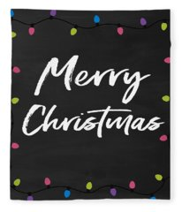 Merry Christmas Lights 2- Art By Linda Woods Fleece Blanket
