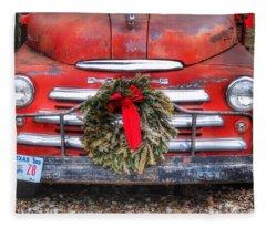 Merry Christmas Texas Fleece Blanket