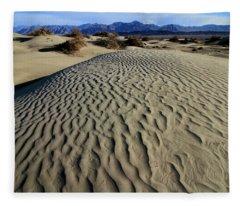 Mesquite Flat Sand Dunes Grapevine Mountains Fleece Blanket