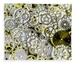 Metallic Motor Mechanisms Fleece Blanket