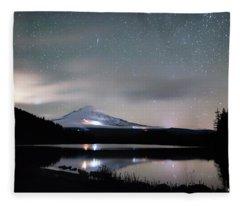 Meteor At Trillium Lake Fleece Blanket