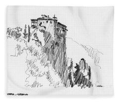 Meteora, Greece 04 Fleece Blanket