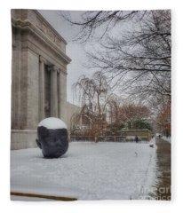 Mfa Boston Winter Landscape Fleece Blanket
