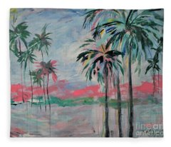 Miami Palms Fleece Blanket