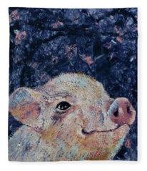 Micro Pig Fleece Blanket