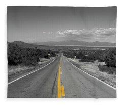 Middle Of The Road Fleece Blanket