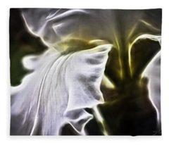 Midnight Iris Fleece Blanket