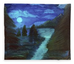 Midnight River Fleece Blanket