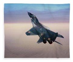 Mikoyan Gurevich Mig 29a Fulcrum Fleece Blanket