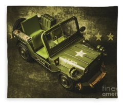 Military Green Fleece Blanket