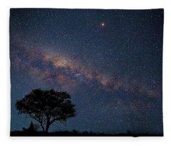 Milky Way Over Africa Fleece Blanket
