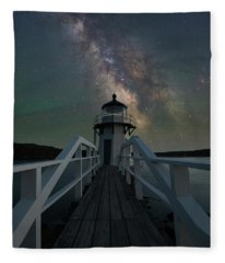 Milky Way Over Doubling Point Fleece Blanket