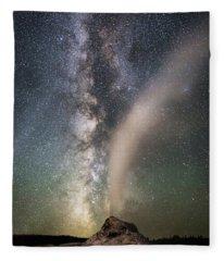 Milky Way Over White Dome Fleece Blanket