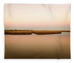 Mill Creek, Sandwich Cape Cod, November, 2015.  Fleece Blanket
