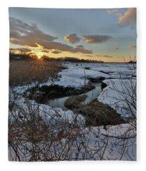 Mill Creek Sunset Fleece Blanket