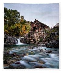 Mill On Crystal River Fleece Blanket
