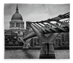 Millennium Bridge 01 Fleece Blanket