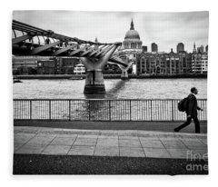 millennium Bridge 02 Fleece Blanket