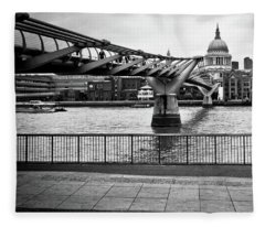 millennium Bridge 02 Fleece Blanket