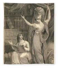 Minerva Directing Study To The  Attainment Of Universal Knowledge Fleece Blanket