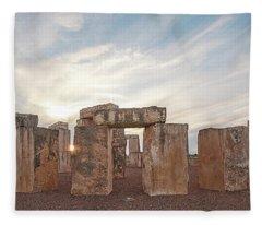 Mini Stonehenge Fleece Blanket