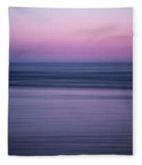 Minimalist Sunset Fleece Blanket