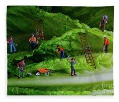 Mining For The Future Fleece Blanket