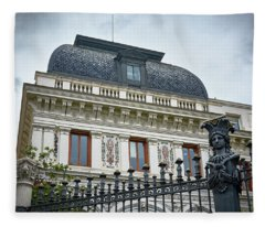 Ministry Of Agriculture Building Of Madrid Fleece Blanket